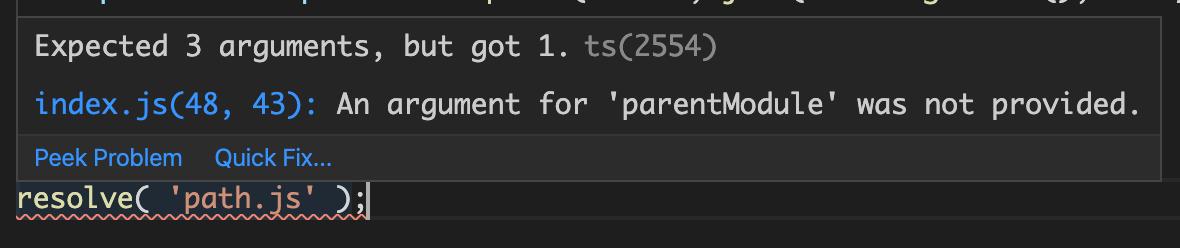 VSCode inline error handling